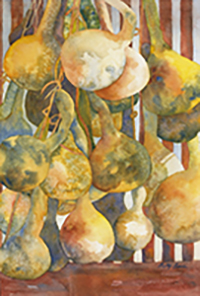 Barss Betty, Hanging Out, watercolor, 28x22, $560