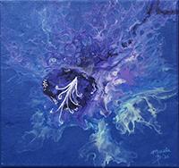 Meesha Blair, Alien Orchid, acrylic, 12x12, $140