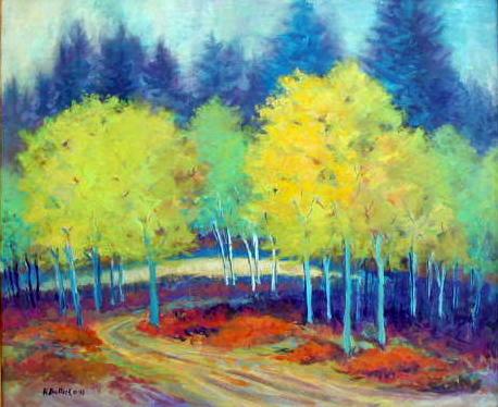 Hortense Bullock, Aspen Grove, acrylic, 20x24, $585