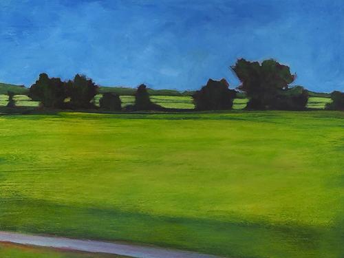 Annekatrine K. Harrington, Luxe Verdant, acrylic on panel, 12x16, $695