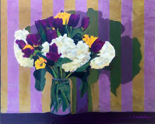 Annekatrine K. Harrington, Paris is Always a Good Idea, acrylic on panel, 16x20, $895