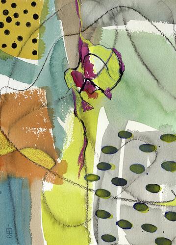 Lynda Hoffman-Snodgrass, Expressions 4-2, watercolor, 20x16, $425