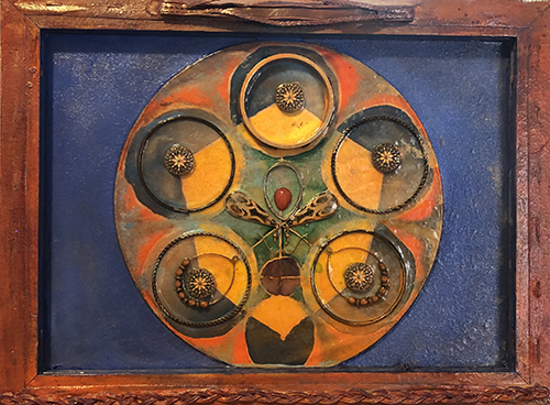 Tia Mckenzie, Reassembled, assemblage, 12x16, $330