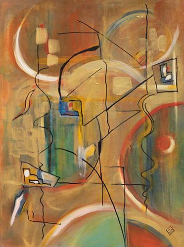 Carolyn Patten, Out of Bounds, acylic, 24x18, $350