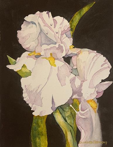 Charlotte Peterson, Dancing in the Rain, watercolor, 17x14, $395