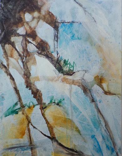 Cindy Triplett, Run Off, watercolor, 20x16, $220