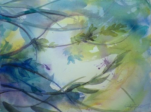Cindy Triplett, Tropical Moon, watercolor, 16x20, $200