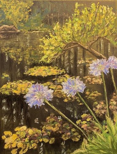 Bonnie McManus, Garden Delight, pastel, 13x16, $225