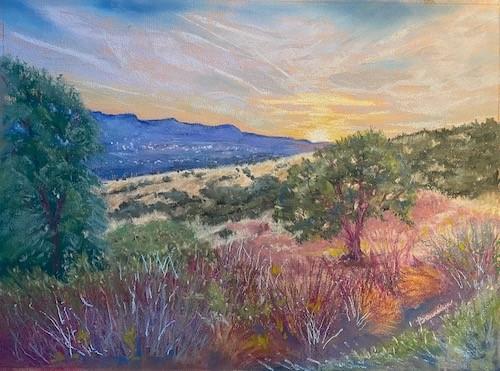 Bonnie McManus, Valley Glow, pastel, 23x19, $250