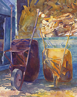Betty Barss, Day of Rest, watercolor, 27x22, $595