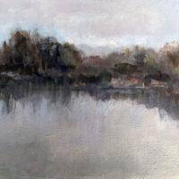 Val Dann, Gray Day, acrylic, 18x22, $195