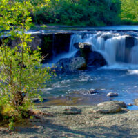 Claudia Harlow, Crowfoot Falls in Southern Oregon, photography, 16x32, $150