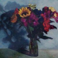 Annekatrine Harrington, ForGiving, acrylic on panel, 16x20, $500
