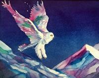 Pam Haunschild, Snowy Descent, watercolor, 16x20, $295