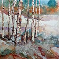 Pam Haunschild, Snowy Silence, mixed, 16x20, $295