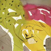 Lynda Hoffman-Snodgrass, Expressions #8-2, watercolor, 16x16, $335