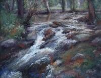 Marilyn Hurst, Meandering Stream, pastel, 11x14, $695