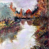 Bonnie McManus, Autumn Pond, pastel, 13x17, $290
