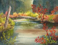 Cristolin Oswald, Rogue Mist, watercolor, 11x15, $165