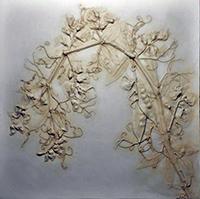 Janet Ratnour, Grace, bas-relief plaster cast, 13x13, $195