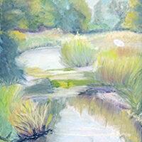 Maryanne Rossini, Quiet, pastel, 18x15, $600