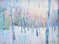 Maryanne Rossini, Winter Lights, pastel, 18x15, $600