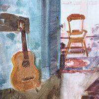 Desmond Serratore, Interior, watercolor, 1x14, $150