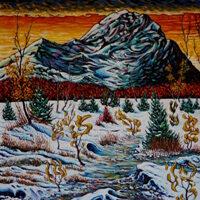 Greg Thweatt, Early Winter, acrylic, 20x16, $120