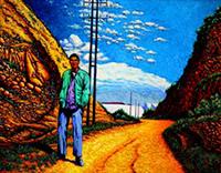 Greg Thweatt, Wyoming, oil, 22x28, $1,200