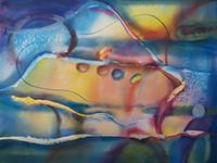 Cindy Triplett, Flow, watercolor, 28x36, $800