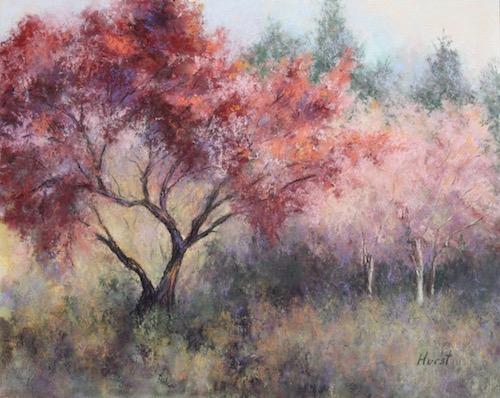 Marilyn Hurst, Spring Burst, pastel, 16x20, $695